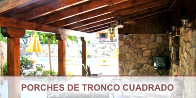Porches de tronco cuadrado