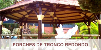 Porches de tronco redondo